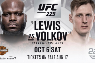 Lewis vs Volkov UFC 229
