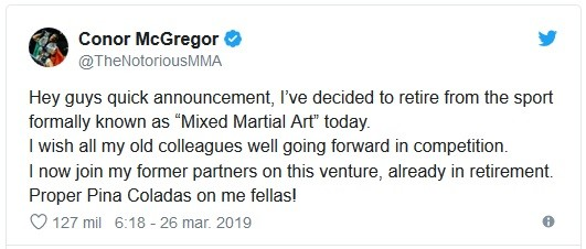 Conor McGregor Twitter