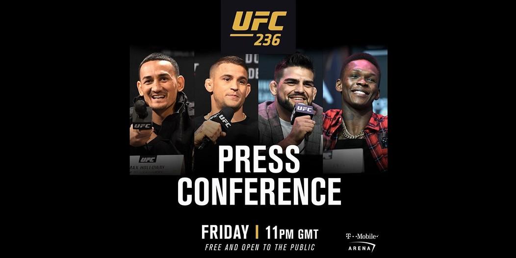 UFC 236 konferencja